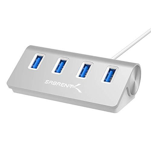 Sabrent USB HUB - Premium 4-Port USB 3.0 Silber Aluminum Hub (76cm Kabel) für iMac, MacBook, MacBook Pro, MacBook Air, Mac Mini oder einem beliebigen PC [Silber] (HB-MAC3) - 4-port Usb-hub Sabrent