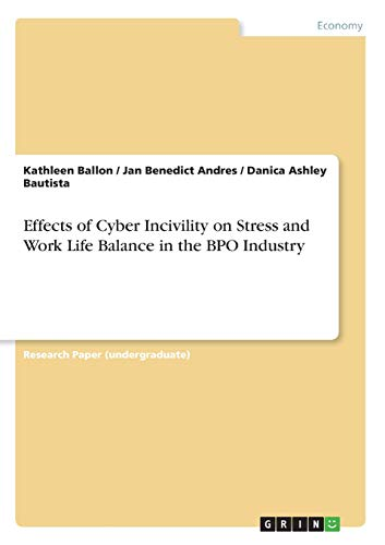 Effects of Cyber Incivility on Stress and Work Life Balance in the BPO Industry