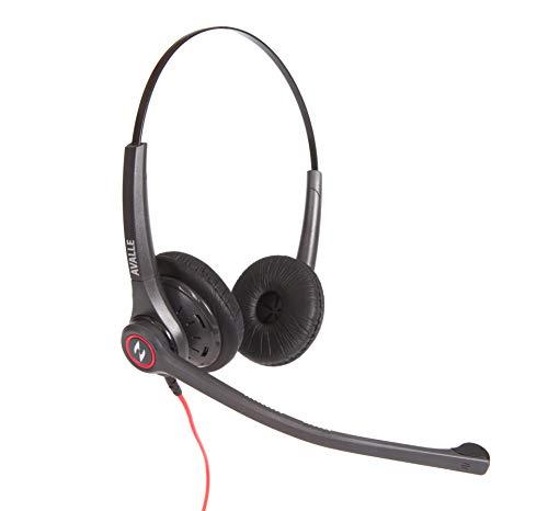 Professionelles Zwei-Ohr-Headset mit Anschlusskabel für Mitel, Nortel, Avaya Digital, Polycom VVX, Shoretel, Aastra | Call Center Agent-Headset mit Rauschunterdrückung Avaya-digital-headset