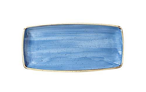 Churchill Stonecast -Oblong Plate Platte- 29,5x15cm, Farbe wählbar (Cornflower Blue)