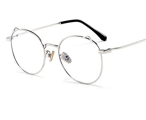 Anti-blue Light Glasses Flat Glasses Round Frame Cat Ears Anti-blue Light A