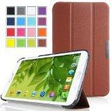 MoKo Etui Samsung Galaxy Tab 3 8.0 - Etui à rabat avec support ultra-mince et léger pour Tablette Android Samsung Galaxy Tab 3 SM-T3100 / SM-T3110 de 8.0 Pouces, CAFE (Avec couverture intelligente réveil/sommeil automatique )
