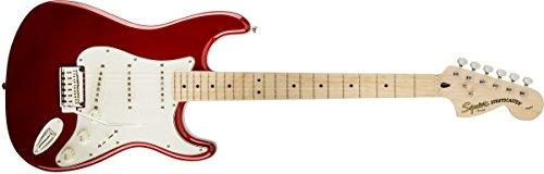 Squier por Fender Standard Stratocaster Guitarra eléctrica–Candy Apple rojo–arce diapasón