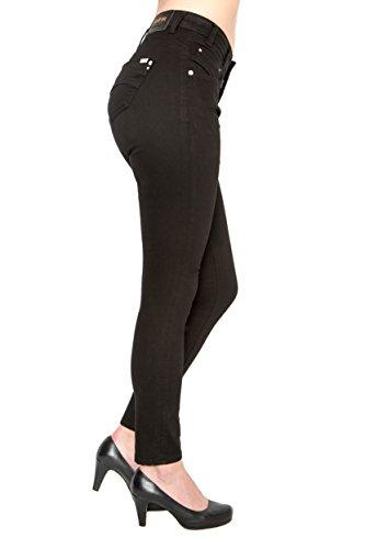 Lost in Paradise Valentine slim black Jeans Damen Denim (31/32) (Bauch-5-pocket-jean Keine)