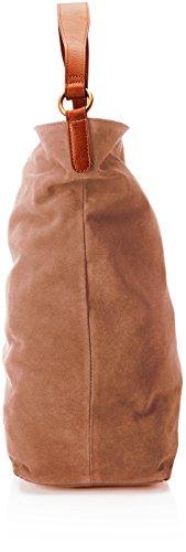 Timberland Tb0m5759, Borsa a Spalla Donna, 15x40x33 cm Marrone (Potting Soil)