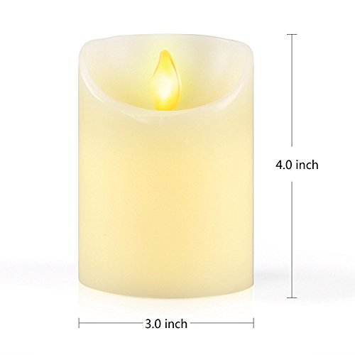 iDOO Aterciopelada Vainilla Perfumado llama temblorosa LED Vela ( 10 cm )