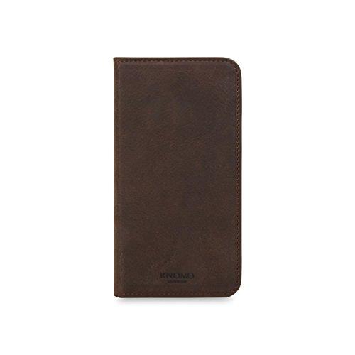 Knomo 90-978-BRN Premium-Leder Hülle für Apple iPhone X braun