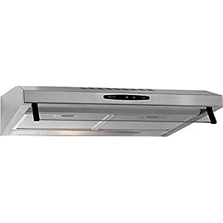 Bomann DU623 IX – Campana extractora 60 cm, recirculación de aire o por conducto, 3 niveles potencia, filtros extraibles de aluminio lavables, acero inoxidable