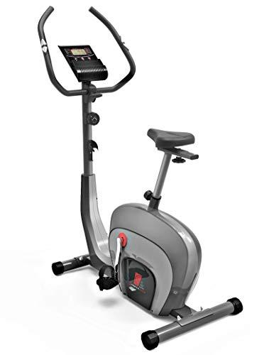 Sportstech ES400 Bicicleta estática para casa, Control de App para Smartphone, Volante de inercia de 10 kg, Bluetooth, Pulsometro, Sistema de Freno magnético, Soporte para Tablet (Reacondicionado)