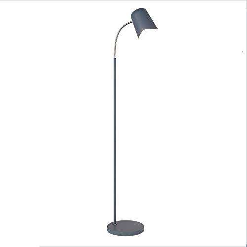 Moderne LED Stehlampen, Nordic 360 ° Beleuchtung Eisenfarben Kinder Vertikal Stehlampe Kreativ Wohnzimmer Schlafzimmer Sofa Boden Tischleuchte, Schwarz, Blau, Grau, Grün, Rosa, Gelb (Color : Blue) -