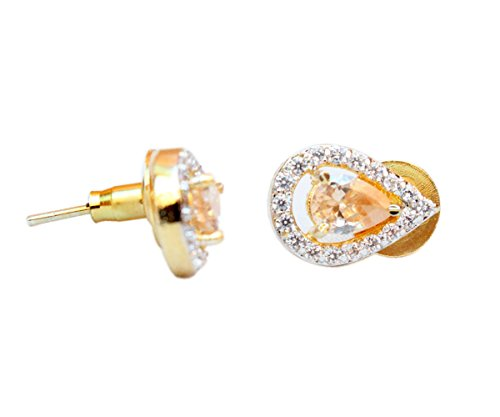 Sanara Charming Lct Crystal stud earring for girl party wear jewellery
