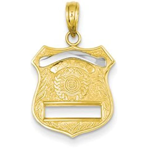 14k Distintivo della polizia Pendant da UKGems - 14k Police Badge Pendant by (Distintivo Della Polizia Pendente)