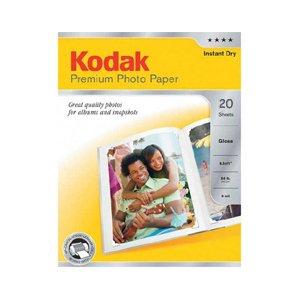 Kodak Premium Photo Inkjet Paper, Glossy, A4, 20 Sheets 250gsm