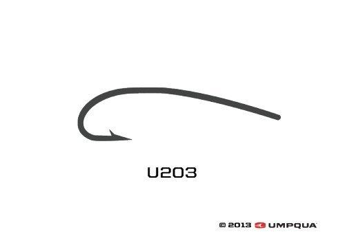 Umpqua u-Series Fliegenbinden Haken U203, Size 20-50 Pack -