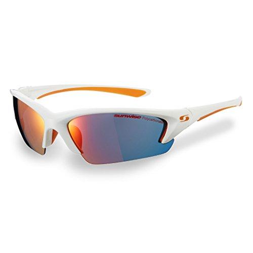 Sunwise Equinox Weiß Rahmen UV-Sport Sonnenbrille mit 3Sets auswechselbarem Objektiv