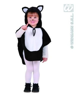 PLUSH CAT HOODED PONCHO 98 to 110CM FANCY DRESS COSTUME