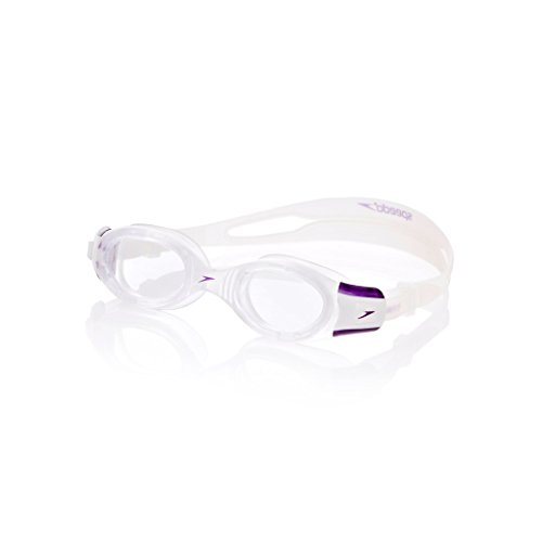 Speedo Adult Women's Futura Bio Fuse Goggles- Clear/Purple, One Size