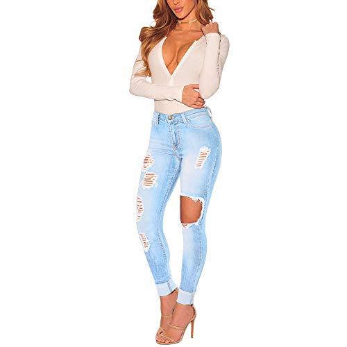 Selou Frauen hohe Taille Jeans Die neueste Stretchschlauch-Rinderhose Sexy Hüften schlank abnehmen Leggings Enganliegende Taille Knopf Streetwear destroyed löcher schwarze zerrissen skinny löchern