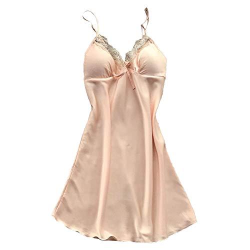 Damen Schlafanzug Sexy Staresen Damen Versuchung Unterwäsche Frauen Spitzen Riemen Unterwäsche Sexy Schlafanzug Mit Brustpolster(4 Farben, S-XL)