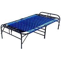 LUSTER Metal Platform; Folding King Bed-(Matte_Blue)