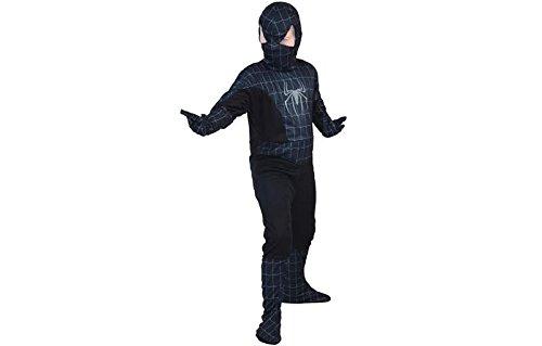 Schwarzen Anzug Spider (Fyasa 853425-t03Spider Hero Kostüm, schwarz, Medium)