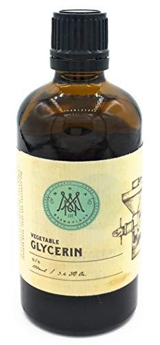 MNA Essentials Pflanzliches Glycerin 100ml - Natürlich, pflanzlich und Gentechnikfrei - Perfekte Ergänzung für feuchtigkeitsspendende DIY Rezepte -