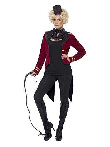 Smiffys 24633L - Damen Zirkus-Direktorin Kostüm, Größe: 44-46, rot