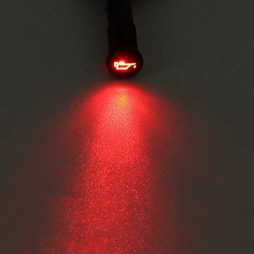 C-FUNN 12/24 / 36V 14Mm LED Cruscotto Spia Luminosa Indicatore Pannello Cruscotto - 012