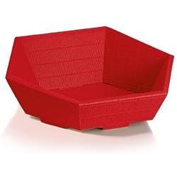 10 x Präsentkorb Swing rot, Weihnachtskorb, Geschenkkorb, Wellpappkorb 6-eckig - Größe: mini