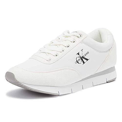 Calvin Klein Jeans Tabata Damen Weiß Sneakers-UK 5 / EU 38 -
