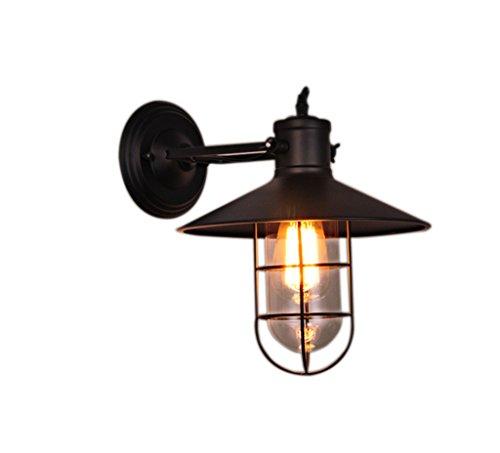 Plug-in Swing-wand-lampe (BD Wand-Lampe europäischen Stil Retro industriellen Wind Gang kreativen Schlafzimmer im Freien Eisen Balkon A++)