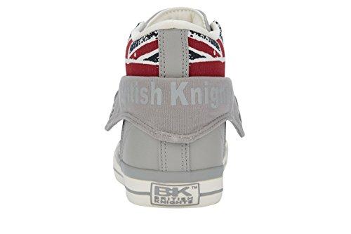 British Knights Herren Roco High-Top Grey/UnionFlag