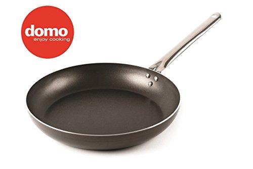 Domo enjoy cooking - padella alta professionale, manico in acciaio, ideale per saltare cibi e forno, chef line (36 cm)