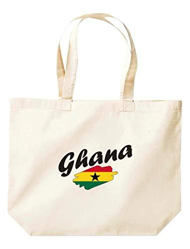 Shirtinstyle grosse Einkaufstasche Ghana Flagge, Land, Länder, Natur