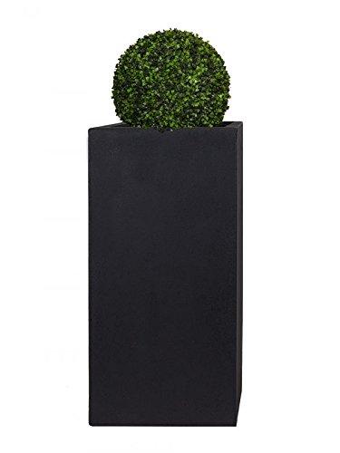 Pflanzwerk® Pot de Fleur Fibre de Verre XXL Tower Anthracite 100x50x50cm *Jardinière antigel* *Protection UV* *Qualité européenne*