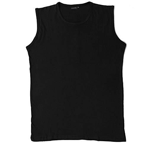 Schnitt Ärmelloses Shirt (Bigdale - Bigsize Tanktop - Übergrößen bis 10XL / Deep Black, 22 / 9XL)