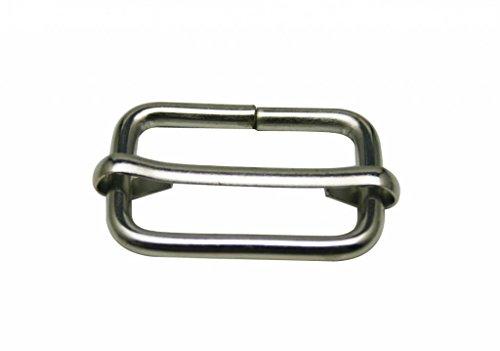 Boucle coulisse acier (25 mm - Nickelé)