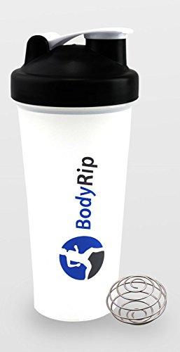 BodyRip 600ml Klauenhammer, Protein Shaker mit Blender Mixer schwarz schwarz 26cm x 9.5cm (Blender-ball-sport-mixer)
