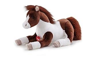 Trudi- Peluche caballo, Color blanco/marrón (23515)
