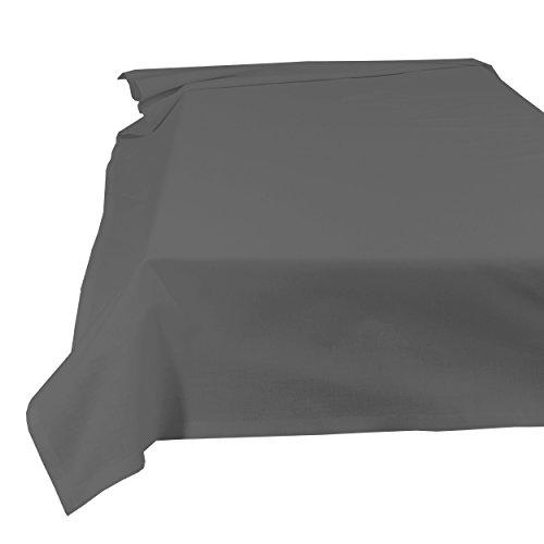 SHC Textilien Betttuch Bettlaken Haustuch Tischdecke 100{b8ea5e2c5d6a4bc8367b4fbbe2d598dea423d999ebf3bd4466a0fa0d19b6ed34} Baumwolle 150 x 250 cm anthrazit/grau/dunkelgrau