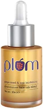 Plum Grape Seed & Sea Buckthorn Glow-Restore Face Oil Blend | For Dry, Very Dry Skin | Hydrates the Skin |