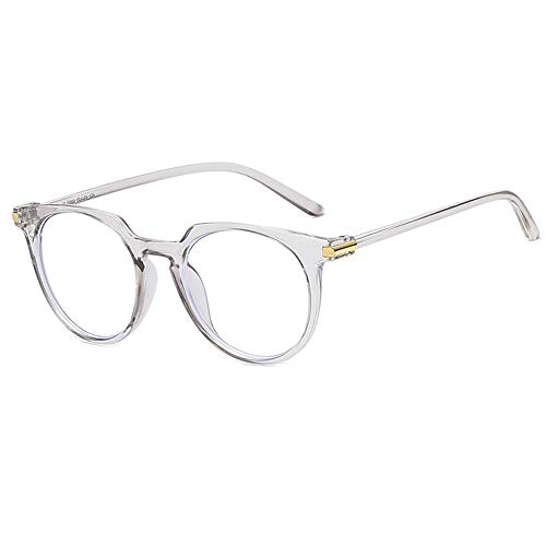 Jelly Color Brillen, Retro Unisex Transparenter, runder Metallrahmen Klare Linse Sonnenbrille Vintage Geek Brillen Nicht verschreibungspflichtige Brillen, Klassische Vogue Optical Eyewear