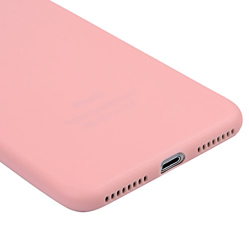 iPhone 7 Plus Hülle Kasos iPhone 7 Plus 5,5 Zoll Schutzhülle Schrubben TPU Silikon Case Ultra Dünn Handy Cover Handytasche Softcover in Schwarz Rosa