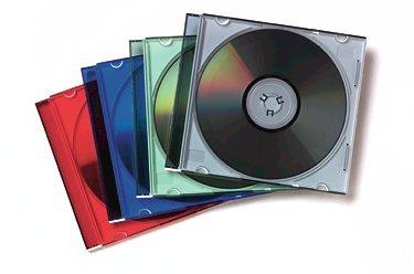 Fellowes 25er Pack Colour Slim Jewel Cases CD-Leerhüllen farbig sotiert (Slim Dvd-hüllen Farbig)