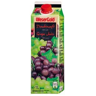 WeserGold Traubensaft 8x1l - 1 Liter Traubensaft