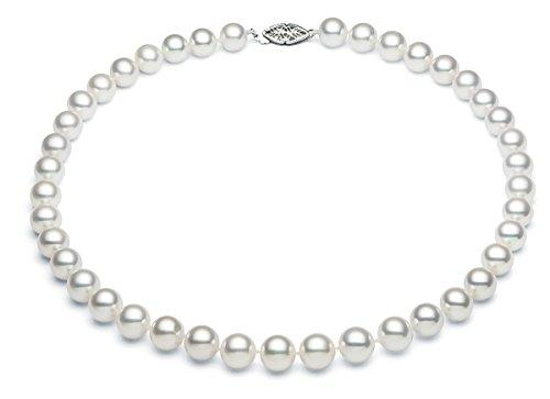 HEATHER Needham weiß 6–6,5mm Akoya Salzwasser Zuchtperlen Pearl Halskette A + Qualität (Ss Heather)