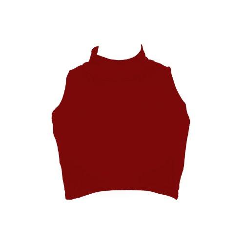 Flirty Wardrobe Top court sans manches et à col cheminée Femme Rouge - Bordeaux