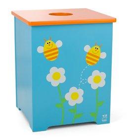 trä Present–Parte caja para juguetes Flores y abejas