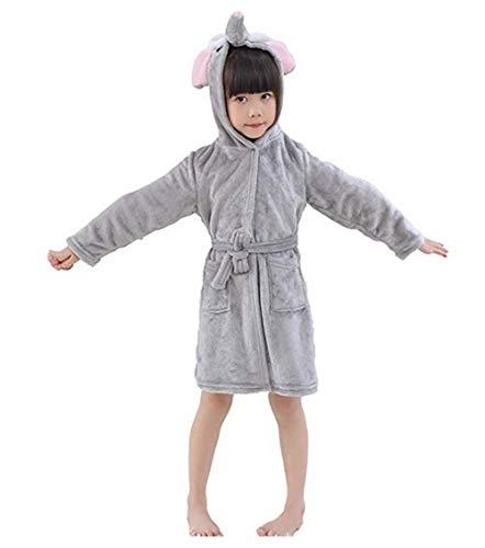 Mystery&Melody Mädchen Kapuzen- Bademantel Cosplay Pyjamas mit Kapuze Handtücher Kostüme Elefant