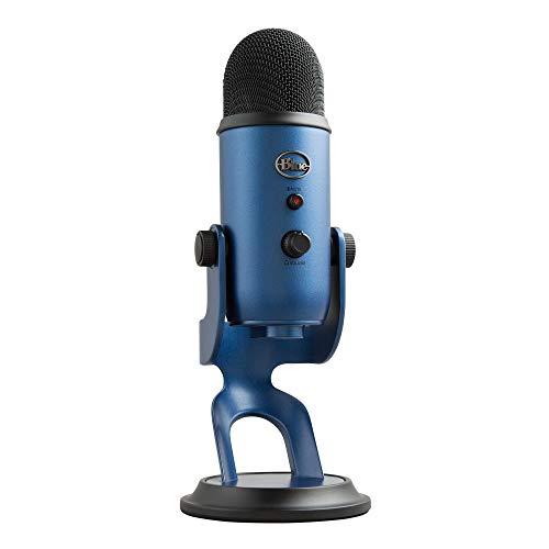 Blue Microphones Micrófono USB Yeti para grabación y transmisión en PC y Mac, transmisión de juegos, llamadas de Skype, transmisión de Youtube, Plug and Play, Azul medianoche